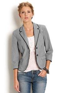 white tailored summer jacket