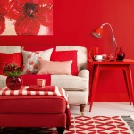 home interiors, red decor, room makeover