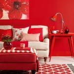 home interiors, red decor, room makeover